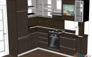 Стандартные размеры кухонной мебели чертежи