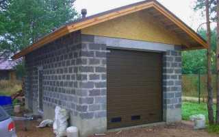 В чем преимущества керамзитобетона и как построить из него гараж