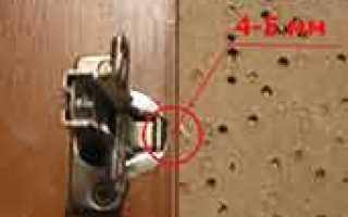 Как правильно врезать мебельные петли