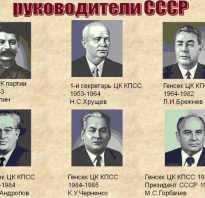 Леонид ильич брежнев. Сколько всего было генеральных секретарей цк кпсс в ссср