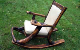 Как самому сделать кресло качалку из дерева