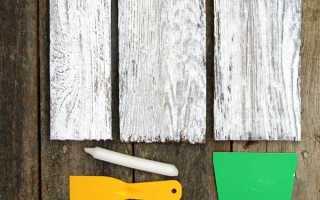 Как покрасить дерево под старину