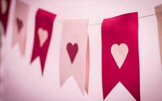 Украшения для дома и подарки на 14 февраля из бумаги