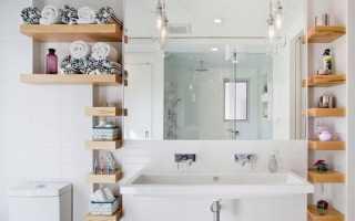 Полочки, коробки, корзины стеллажи и другие идеи для хранения вещей в ванной комнате