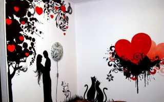 Выбор и изготовление трафарета для покраски стен