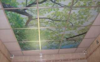 Как помыть пластиковый потолок на кухне