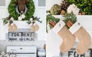 Поделки: новогодние чулки и сапожки для санта клауса
