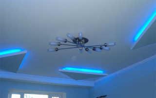 Правила монтажа гипсокартона на потолки с подсветкой