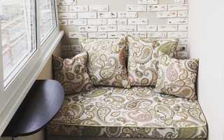 Выбор модели и сборка дивана на лоджию или балкон