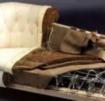Как самому обшить диван тканью