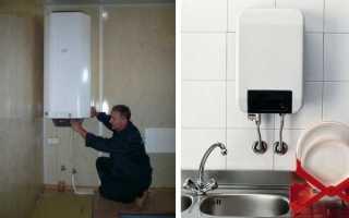 Как установить и подключить электрический водонагреватель проточного типа