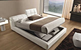 Как выбрать кровать двуспальную с подъемным механизмом