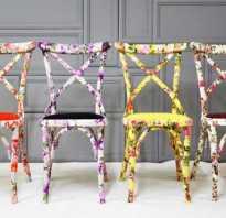 Как декорировать старый стул