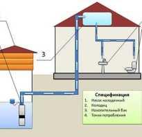 Как сделать водопровод с накопительным баком?
