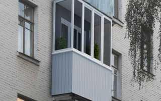 Балкон в хрущёвке на металлическом каркасе с крышей