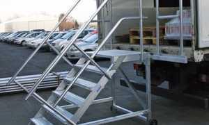 Передвижная лестница с платформой: виды, материалы и требования