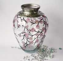Как украсить прозрачную вазу своими руками