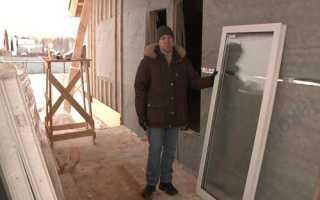 Установка окна в каркасном доме. фото. видео.