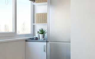 Можно ли ставить холодильник на балконе зимой