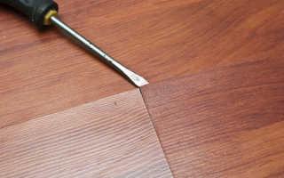 Ремонт ламината без разборки: как сделать своими руками