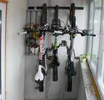 Как хранить велосипед зимой на балконе