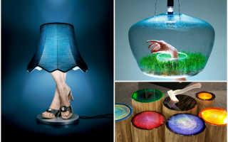 Элитные дизайнерские светильники: решение для необычных интерьеров