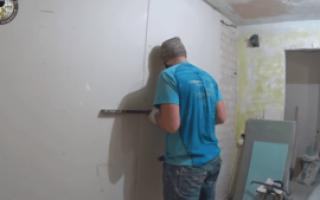 Технология приклеивания гипсокартона к стене