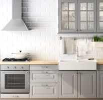 Серый пол на кухне какого цвета гарнитур