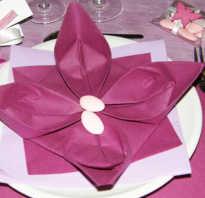 Как красиво оформить салфетки бумажные к столу