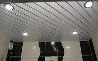 Особенности применения реечных потолков в ванной комнате