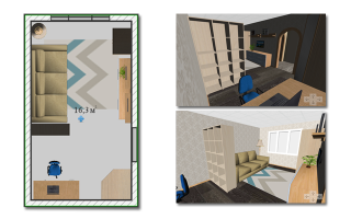 Как сделать перестановку в однокомнатной квартире