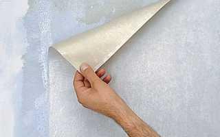 Как быстро ободрать старые бумажные обои со стен