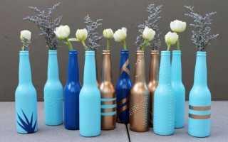 Как сделать декоративную бутылку своими руками