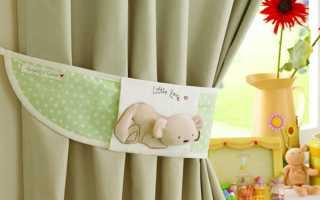 Как красиво подвязать шторы своими руками