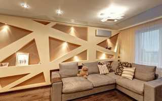 Дизайн стен в гостиной: правила отделки и декорирования