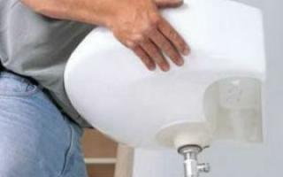 Как установить умывальник с пьедесталом