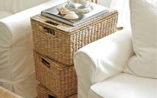Как использовать обычные и плетеные корзины в интерьере
