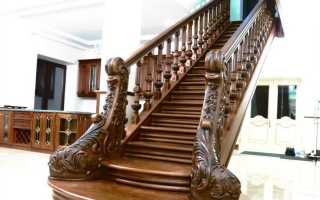Перила деревянные: особенности материалов и конструкции