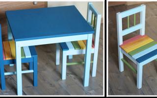 Сделать детский столик и стульчик своими руками