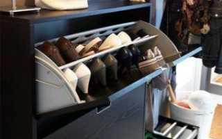 Хранение одежды и обуви на балконе