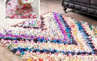 Как сделать пушистый коврик своими руками