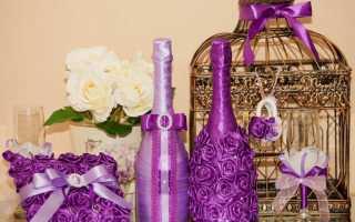 Как красиво декорировать бутылку