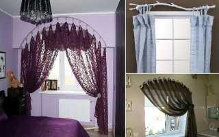 Как повесить шторы без карниза?