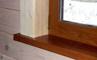 Установка и отделка пластиковых окон в деревянном доме