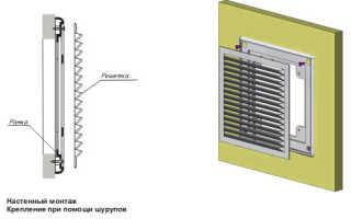 Как правильно поставить решетку вентиляции
