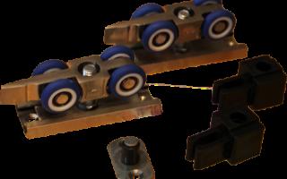 Фурнитура для дверей купе : профиль, ролики, направляющие и другие комплектующие для межкомнатных дверей купе