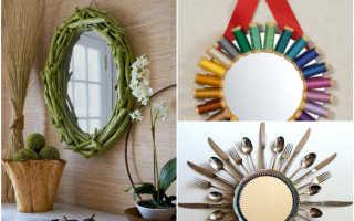 Как сделать напольное зеркало своими руками