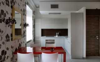 Использование в интерьере кухни современных обоев
