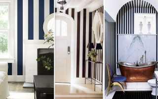 Полоска в дизайне интерьера