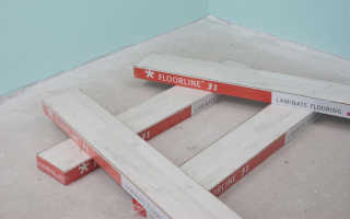Подготовка поверхности для укладки ламината